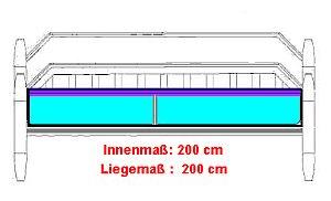 Volle Liegefläche im Original Gel-Vital-Gelbett®